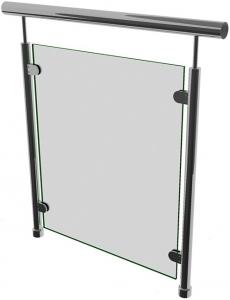 Ограждение со стеклом на стеклодержателях