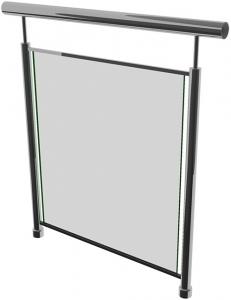 Ограждение со стеклом на профилях