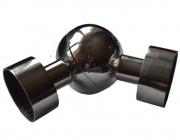 Поворот шаровый регулируемый с проставкой Ø38